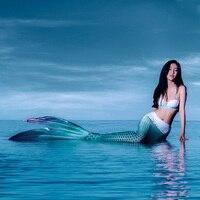 Девушки сверкают хвост русалки купальники с Swimfins бикини комплект 5 шт. для Косплэй бассейн Вечерние