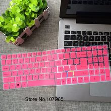 15 17 inch Keyboard Protector Silicone Cover For Acer ASPIRE E5-722G E5-573 573G 573T 532G G-557U E5-722 E5-574G E15-257 TMP257G(China)