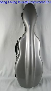Strong glass fiber gray 4/4 violin case,two bow's holders