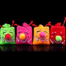 10 см детские приколы счастливые игрушки Музыка смешной Смех Мешок пинч смех сумки фестивали праздновать игрушки 1 шт цвет случайный