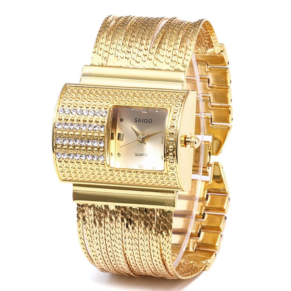 New Reloj Mujer Women Round Full Diamond Bracelet Watch Analog Quartz Movement Wrist Watch Saat Montre Femme Relogio Feminino