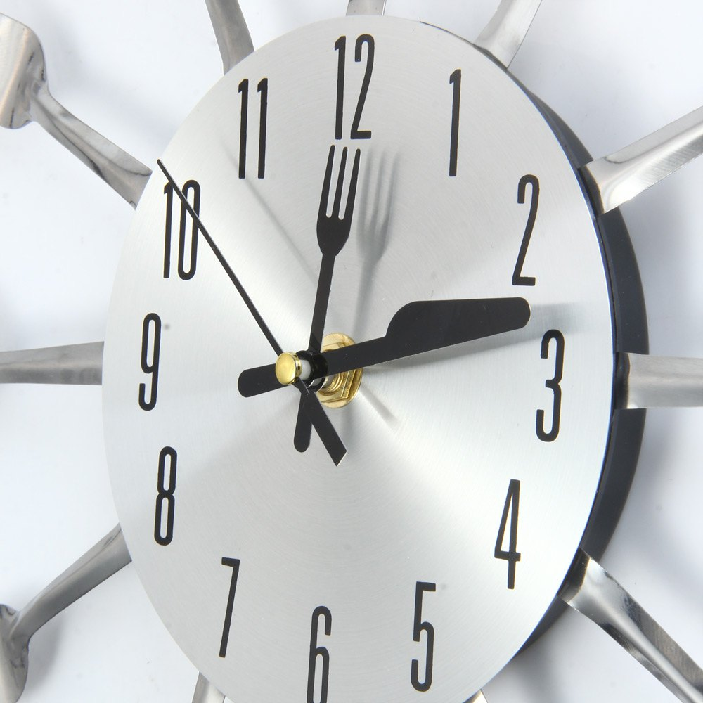 Original Large 3D Wall Clock Modern Design Stainless Steel Kitchen Wall  Watch Quality Quartz Needle Clock Home Decoration In Wall Clocks From Home  U0026 Garden ...