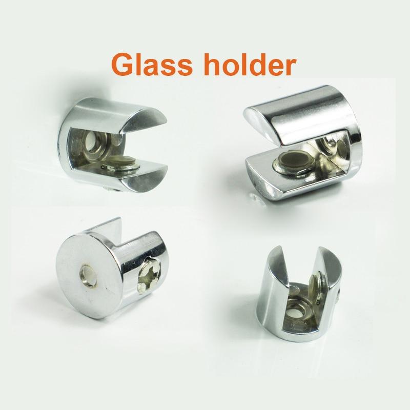 Best Price Wholesale 8 Pcs Zinc Alloy Small Glass Shelf