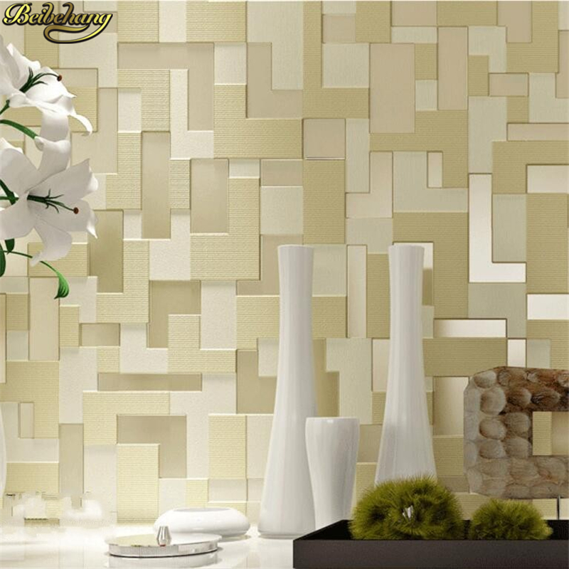 beibehang papel de parede,3D three-dimensional relief non-woven bedroom living room TV backdrop wallpaper mosaic 3d wallpaper