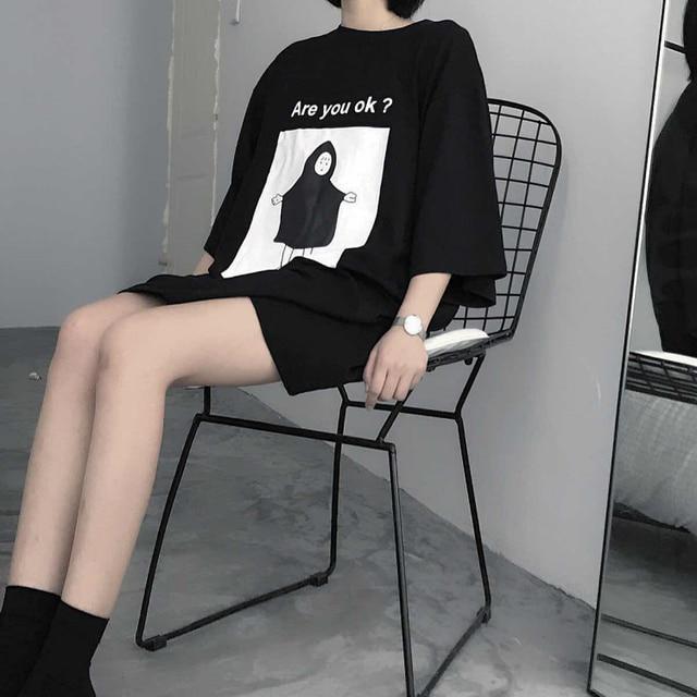 2019 Spring Harajuku Fashion Black Female T Shirts Summer Japanese Gothic Casual Tops Street Wear Oversized Women Slim tshirt 1
