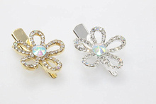 2pcs Hairpins Barrettes Hair Clips Brides Butterfly Hair Jewelry Crystal Clips Bridal Kids Girls tiara Accessories B276-6