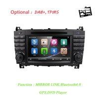 New 7Car DVD radio for Mercedes Benz C Class W203 2004 2007 CLC W203 2008 2010 CLK W209 2005 2011 GPS Navigation USB RDS BT SD