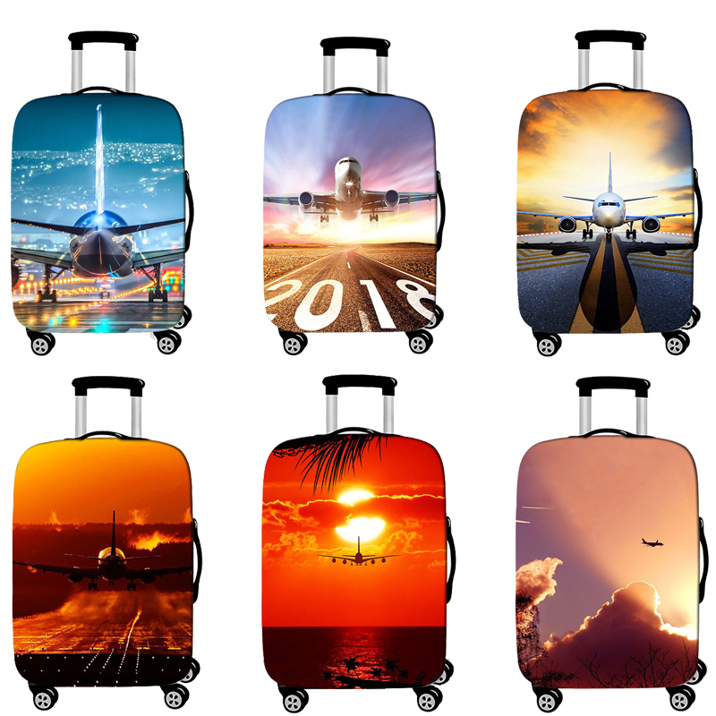 Travel Accessories Luggage Cover Suitcase Protection Baggage Dust Cover Elasticity Aircraft Trunk Set Case For Travel Suitcase