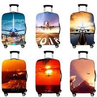Аксессуары для путешествий, чемодана крышка чемодан защиты багажа Пылезащитный чехол эластичность самолета багажника комплект чехол для д...