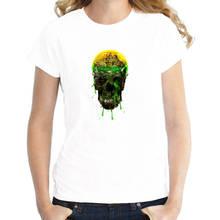 New 2018 Fashion Graphic O-Neck Skeleton Short-Sleeve Womens T Shirts