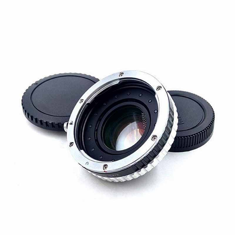 Focal Reducer Speed Booster Adapter wAperture for Canon EF Lens for M4/3 mount camera GF5 GF6 GX7 GH4-PL6 E-PL5 BMPCC viltrox ef nex ii mount adapter for sony a7 a7rm a6000 nex fs700 for canon ef lens