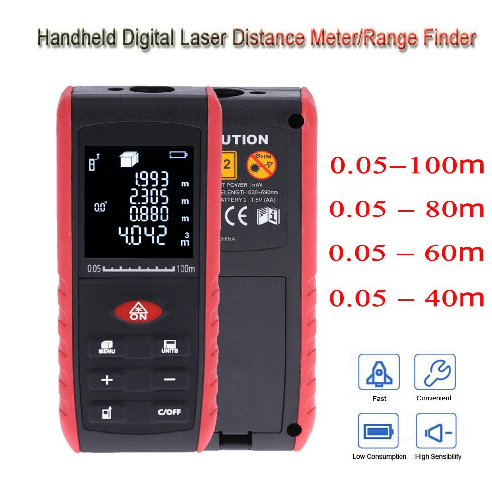 40//60//80//100m Laser Distance Meter Handheld Rangefinder measure Portable tool