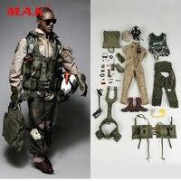 1042 S 1/6 U.S. ВМС VFA 41 авиация фигурка солдата ЧЕРНЫЙ Костюм рыцарей набор аксессуаров для 12 Коллекционная фигурка