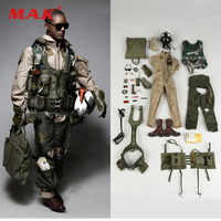 1042 S 1/6 U.S. NAVY VFA 41 Aviation Solider Figure Black Knights Uniform Set Accessories for 12 Collectible Action Figure