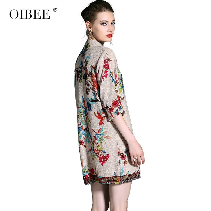 Mode Taille Jupe Trois Automne Lâche D'impression Stand Grande quarts Bas Manches Nouvelle Col Femmes Color De Robe Oibee2018 OXaIqwx48O