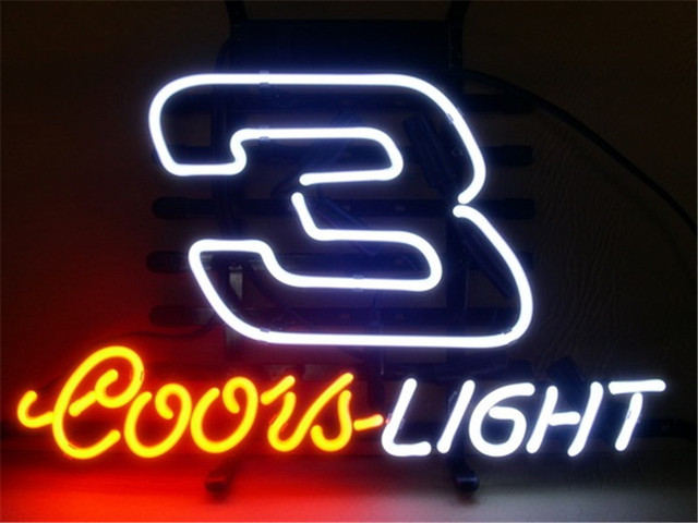 Neon sign for coors light nascar 3 dale earnhardt signboard real neon sign for coors light nascar 3 dale earnhardt signboard real glass beer bar pub aloadofball Choice Image