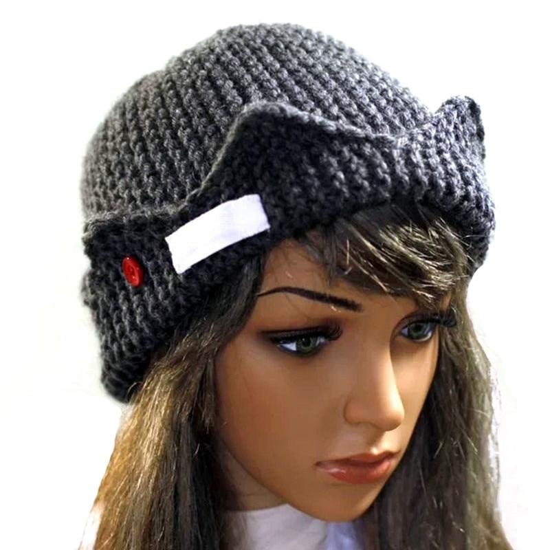 Women Hair Accessories Beanie Riverdale Jughead Jones Crown Knitted Cap  Winter Hat Keep Warm Beanies gorro.   9e16bb36740