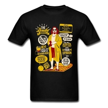 Поп Dude БОЛЬШОЙ ЛЕБОВСКИ футболка атмосферу футболка Для мужчин хлопок размера плюс короткий рукав пользовательские Забавные футболки