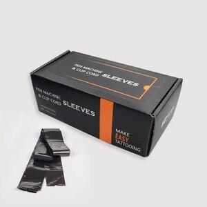 "Image 1 - 100 Sleeves/Box 42""*2.0 EZ Cartridge Tattoo Pen Machine Clip Cord Sleeves for Regular Clip Cord & Pen Type Tattoo Machine"