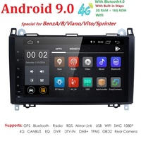 DSP IPS Android 9.0 4G Car GPS For Mercedes Benz Sprinter B200 B class W245 B170 W209 W169 radio stereo no dvd player Multimedia