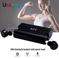 X1T X2T Mini Bluetooth Headphones Cordless In Ear Earbuds Twins Sport Wireless Earphones Stereo MP3 Headset