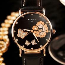 Reloj de las señoras famosa marca yazole femenina chica reloj de cuarzo reloj de pulsera de reloj de cuarzo relogio feminino montre femme