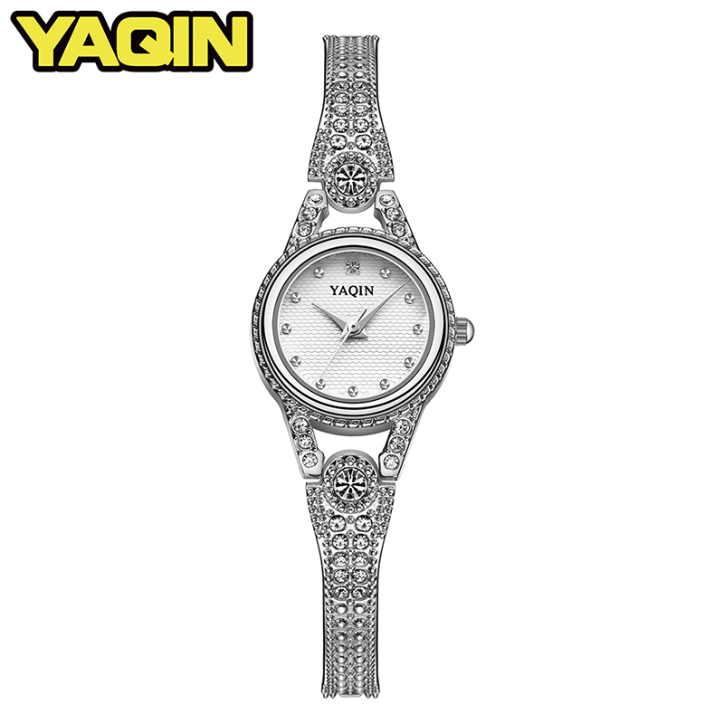 YAQIN TOP brand luxury watch women fashion quartz watch ladies steel bracelet watch women watch Feminino