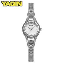 YAQIN TOP brand luxury watch women fashion quartz watch ladies steel bracelet watch women watch Feminino Relojes цена и фото