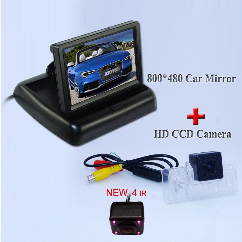 Promotiom IR light car parking camera+4.3 Foldable car rear reversing monitor fit for for Nissan Almera /TEANA / Sylphy Altima