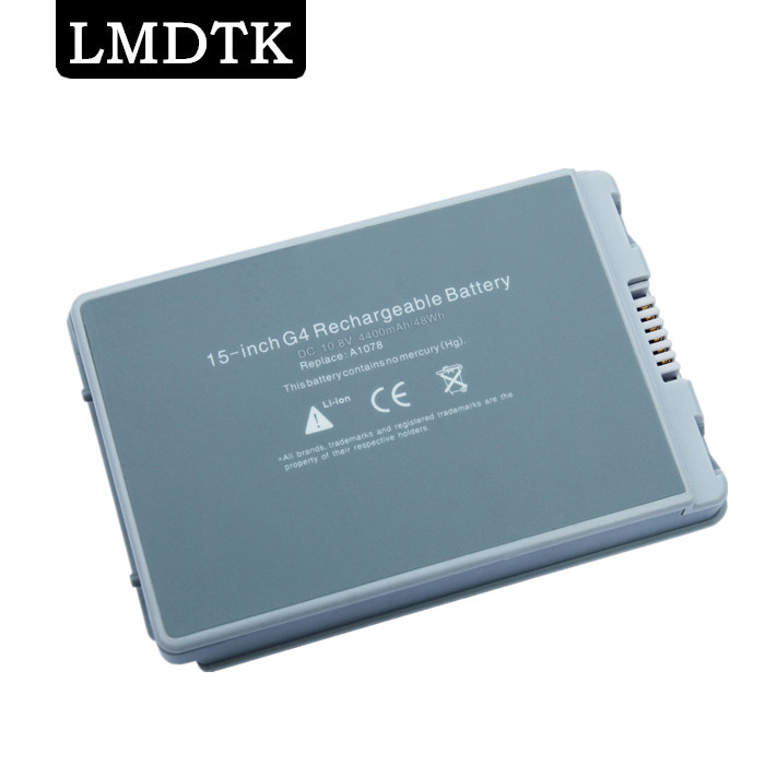 LMDTK New laptop battery for Apple PowerBook G4 15 A1106 PowerBook G4 15 Aluminum Series A1078 A1045 A1148 M9325 the powerbook