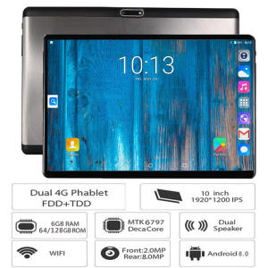 LTE Tablet Deca-Core 10inch 1920--1200 android 128GB-ROM New 4G FDD 6GB Pc Gifts Tempered-Glass