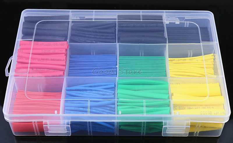 127X Heat Shrink Tubing Insulation Shrinkable Tube Wire Cable Sleeve Assortment
