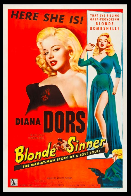 Blonde Sinner Sexy Beauty Classic Movie Film Noir Retro Vintage Poster Canvas Painting DIY Wall Paper Home Decor Gift image