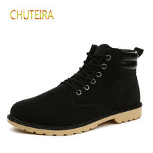 2019 spring mens boots UK outdoor work high shoes cotton new
