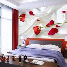 3d wallpaper custom mural non-woven wall stickers 3 d red