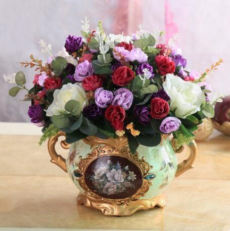 Europese stijl bloem decoratie, bloem kamer, valse bloem, potplanten, bloemstuk. - 5