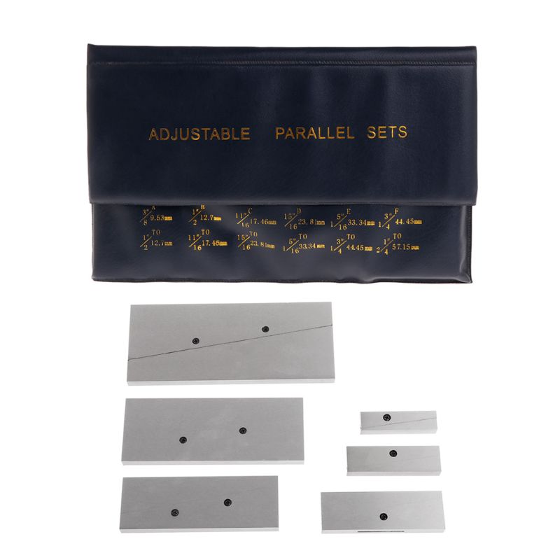 Adjustable Parallel Sets 6Pc 3 8 2 1 4 For layout inspection stop work