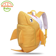 Rainbow Baby 3D Model Shark Kids Babys Bags Anti Lost School Bags for 2 8 Years