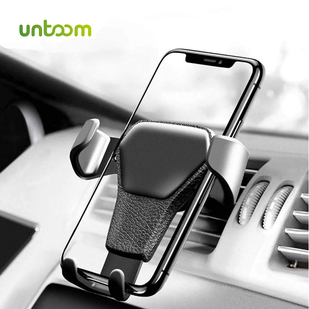 Untoom Gravity Car Phone Holder In Car Air Vent Mount Car Holder Stand For IPhone 7 8 X XS Max Phone Bracket For Samsung Xiaomi