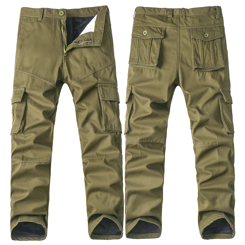 2017 New Men's Cotton Casual Man Camouflage Tactical Military Fatigues Fleece Cargo Pants Men Military Trousers Plus Size 40 hot