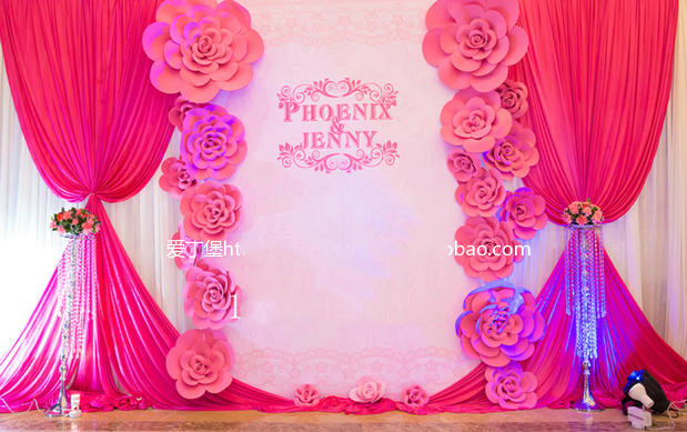 21pcs different sizes Combination foam Paper rose flowers