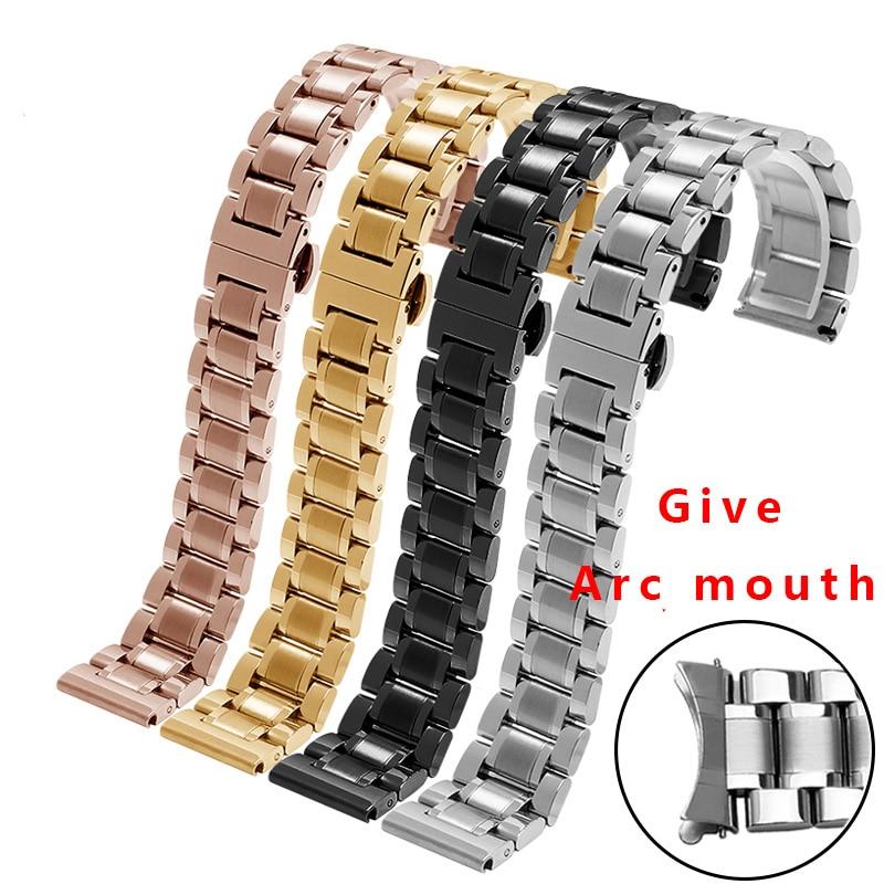 Cinturini per orologi in acciaio inox 12mm 14mm 15mm 16mm 17mm 18mm 20mm 21mm 22mm 23mm in oro rosa cinturino in metallo per TissotCinturini per orologi in acciaio inox 12mm 14mm 15mm 16mm 17mm 18mm 20mm 21mm 22mm 23mm in oro rosa cinturino in metallo per Tissot