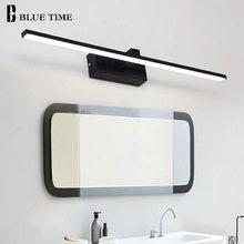 Simple Modern Led Wall Light Bathroom Lamp Black&White Body Sconce Mirror Front Luminaire 110v 220v