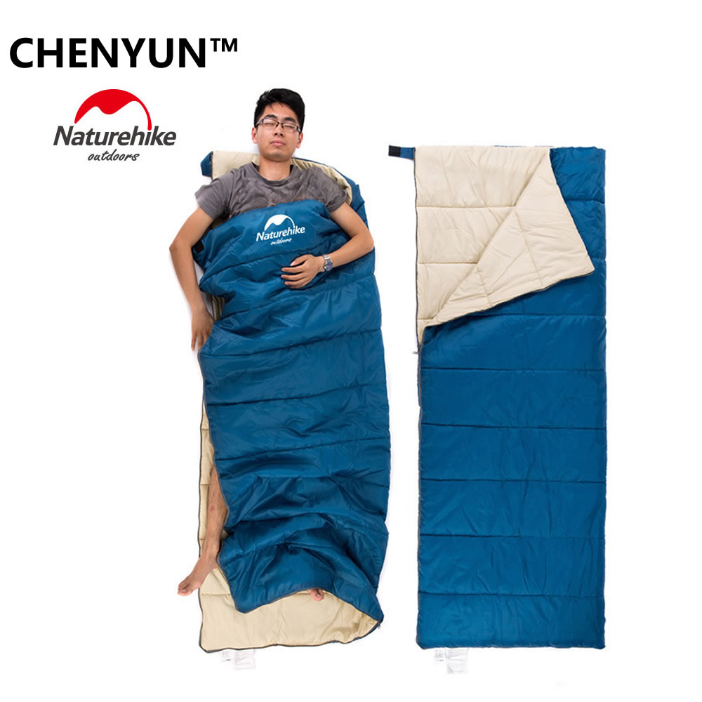 ФОТО Hot!NatureHike 190cm*75cm Outdoor Double Sleeping Bag Envelope Style Summer and Autumn Camping Hiking Portable Sleeping Bag With