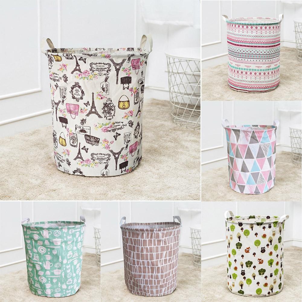 Bucket Storage-Box Dirty-Clothes Folding Portable Waterproof Canvas Multi-Purpose -Lc