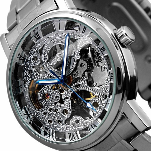 2016 Fashion Brand Luxury  Men Automatic Mechanical Watch Skeleton Dial Military Watch Relogio Male Montre Watch Mens Relojes 2016 wilon fashion brand top quality luxury automatic watch male skeleton mechanical watch relojes hombre marca famosa