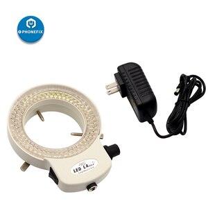 Image 3 - PHONEFIX 100 ボルト 240 ボルト 144LED 耐久性のあるリングライト顕微鏡ステレオ顕微鏡カメラ拡大鏡ライト携帯電話の修理の