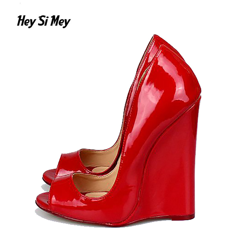 Hey Si Mey Fashion Superior Quality Comfortable Wedges Women Sandals For Ladies Shoes High Open Toe Plus Size 40-46 mcckle fashion superior quality comfortable bohemian wedges women sandals for lady shoes high platform open toe flip flops plus