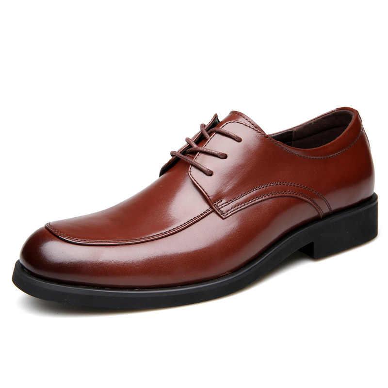 ROXDIA da Thật Chính Hãng Da Nam Đầm Giày công việc làm việc nam dép nam Giày Oxford RXM063 size 39-44