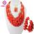 Encanto 2015 Nuevo Collar de la Joyería de Coral Perlas Conjunto Nigeriano Boda Perlas Africanas Joyería Conjunto Coral Best Selling CJ013